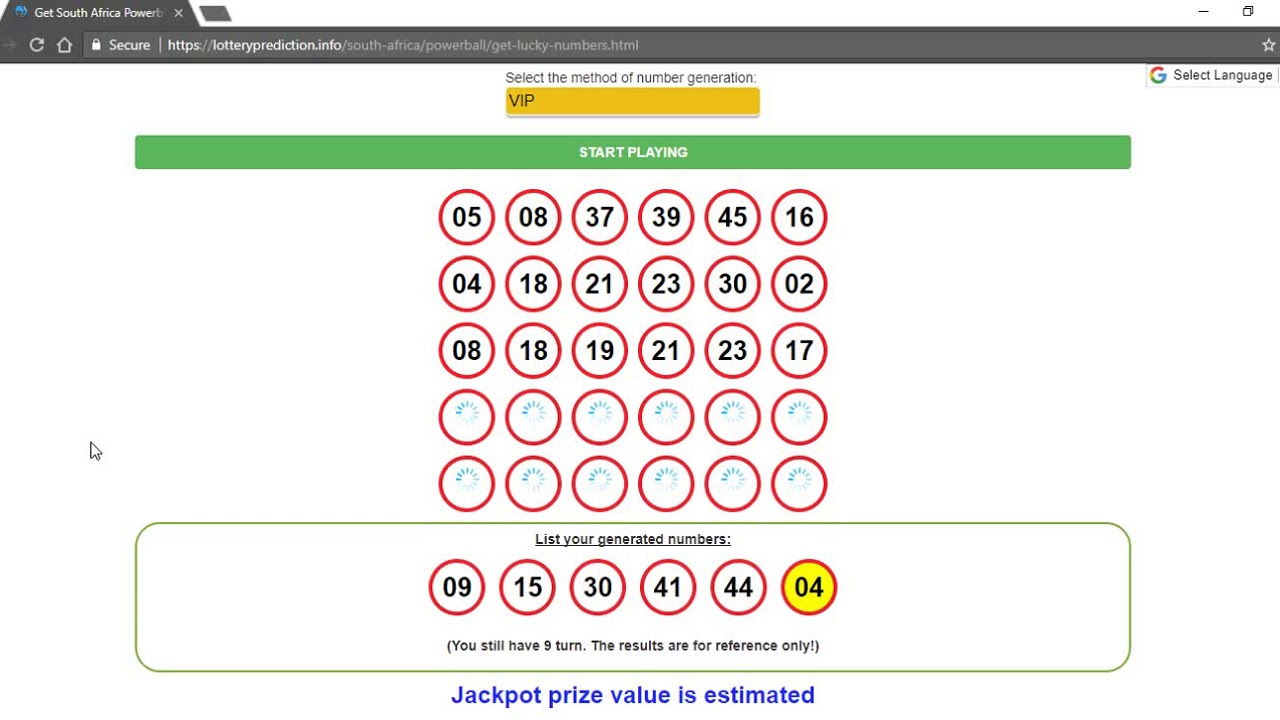 Powerball South Africa Prediction For Draw 02 23 2018 Youtube