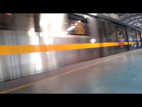 Delhi Metro From HUDA City Cantre