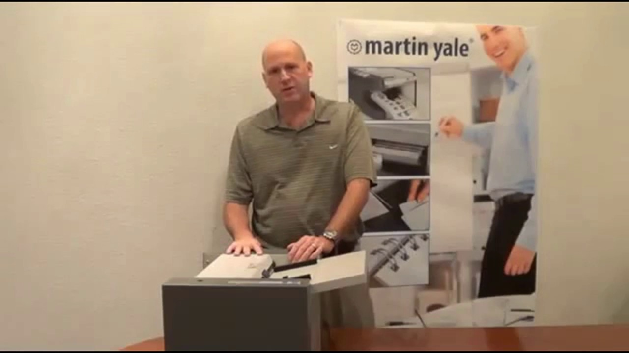 Manufacturer Video of the Martin Yale GC10 Single Pass 10 Up ...