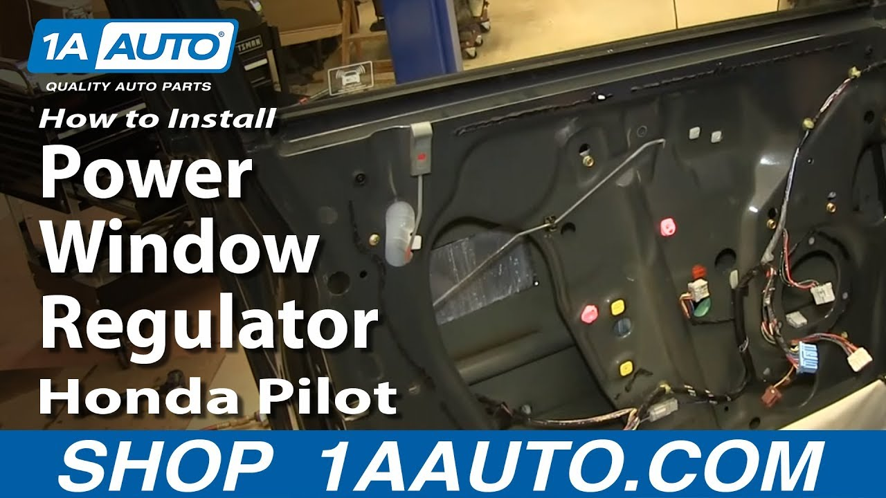 How To Install Replace Front Power Window Regulator 2003