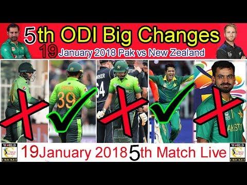 5th odi pak vs nz eleven 11  playing side, pakistan vs new zealand one day match no 5 18 january