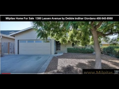 Milpitas Home For Sale 1386 Lassen Avenue Milpitas CA 95035