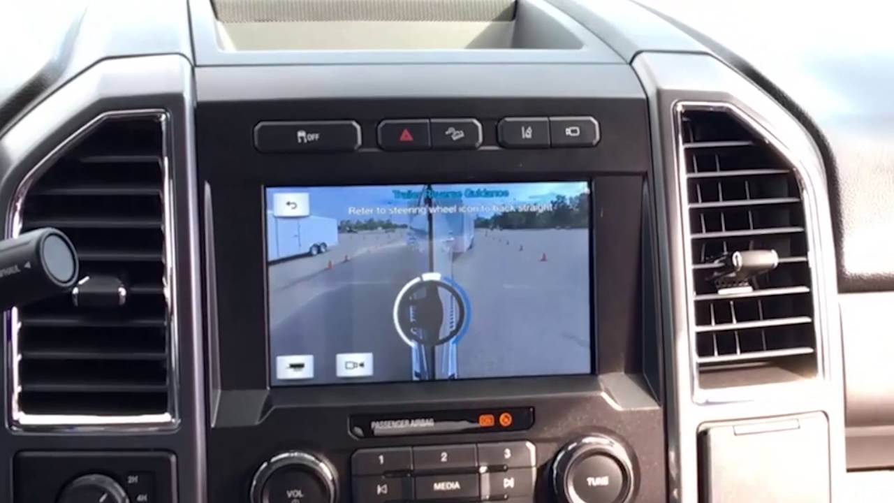 2016 Ford F350 >> 2017 Ford Super Duty Trailer Reverse Guidance - YouTube
