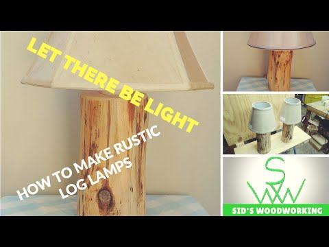 How to make log lamps. diy project.