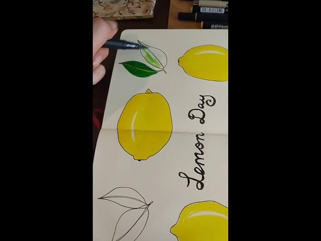 Lemon sketch in my moleskine