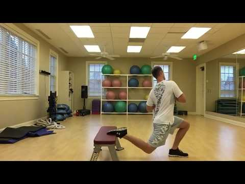 golf fitness workout with Bulgarian Squats