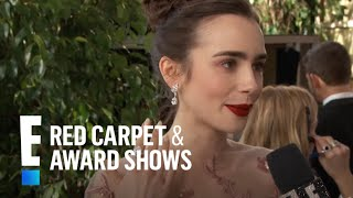 "Lily Collins ""Drops The Mic"" For Meryl Streep 