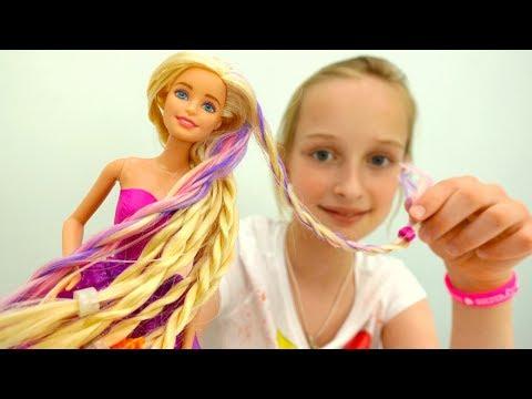 Видео для девочек: #Барби меняет имидж! Новая прическа - ДРЕДЫ! Игры Барби #одевалки