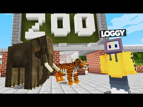 LOGGY IS GOING TO ZOO | MINECRAFT