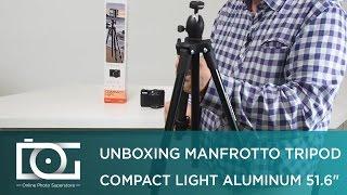 CAMERA TRIPOD REVIEW | MANFROTTO Compact Camera Tripod | Light Aluminum 51.6