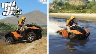 AMPHIBIOUS ATV! 4x4 Mudding, Jet Skiing, & Off-Roading! Gibbs Quadski (GTA 5 PC Mods)