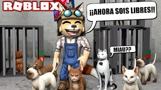 THE DOG Who Rescued the 🐕🐈 SECUESTRADOS CATS - ROBLOX