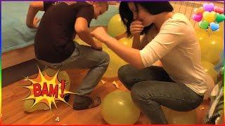 The Balloon Show ❤ ПОПОЙ Эпично взрывают воздушные шарики ✖ ЭДВИН и КАТЯ POP CHALLENGE
