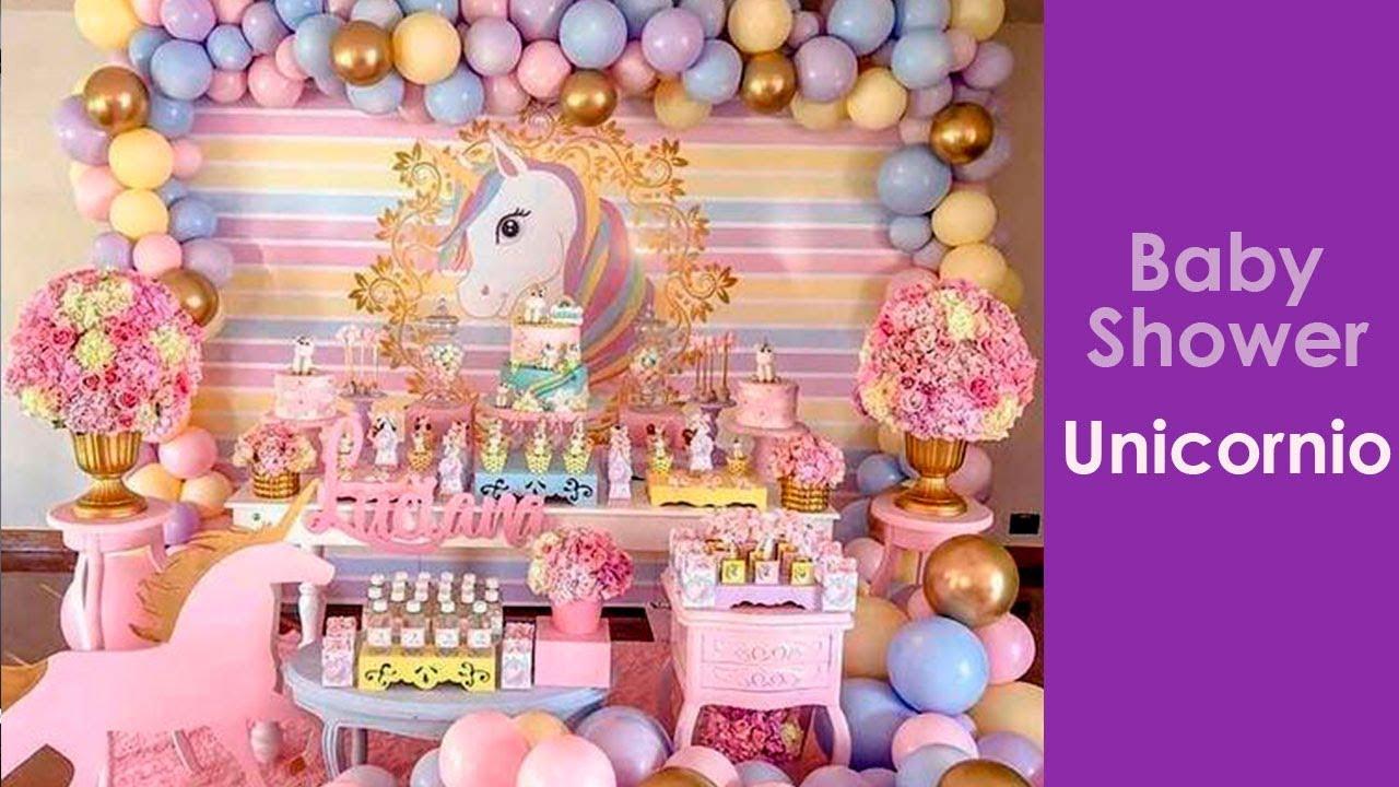 Tematica De Baby Shower Nina.Decoracion Baby Shower Unicornio Decoracion Para Fiestas