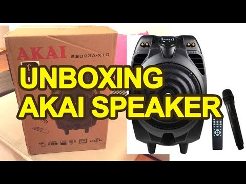 Akai SS023A X10 Karaoke Portable Speaker - Unboxing