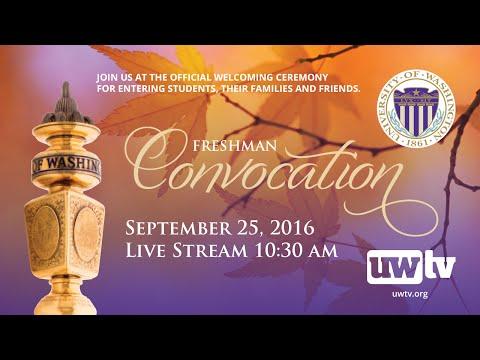 2016 Freshman Convocation