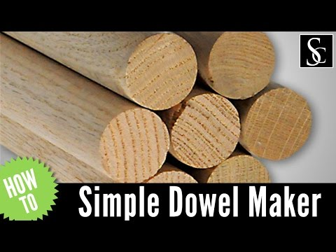 Simple Dowel Maker - No building required!