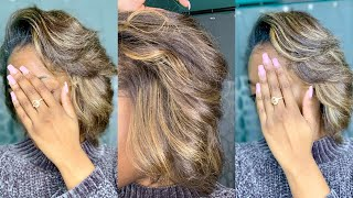 How to Feather Short Natural Hair for Body and Volume!!