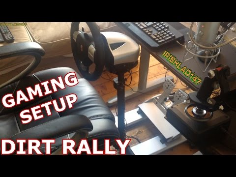 dirt rally with fanatec racing wheel clubsport pedals. Black Bedroom Furniture Sets. Home Design Ideas