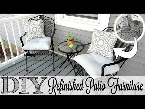 DIY Refinished Patio Furniture | Before & After