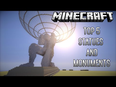 Top 5 EPIC Minecraft Creations (Statues/Monuments) (May2015) (1.8.4)