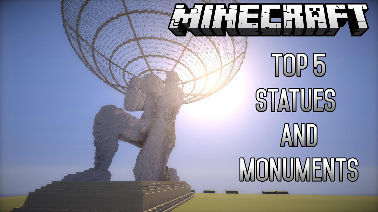 Top 5 EPIC Minecraft Creations (Statues/Monuments) (May2015) (1 8 4)