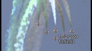 Indian Tri Colours Display : Indian Airforce Fighters : Air show Bangalore 2009