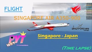 ROBLOX Flight Singapore to Japan with Singapore Air [A350-900]