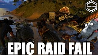 Ark Survival Evolved Raid Fail 1500 Nades Lost Part 2 Ep. 19