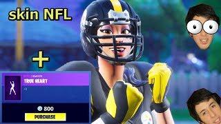 skin NFL fortnite + true heart + Bonus Track! (´・ω・`)