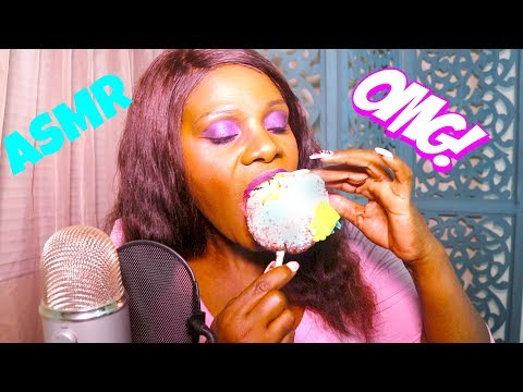 🍬🍎  Rock Candy Apple ASMR Eating Sounds Intense😱 Lip Smacking | MAX