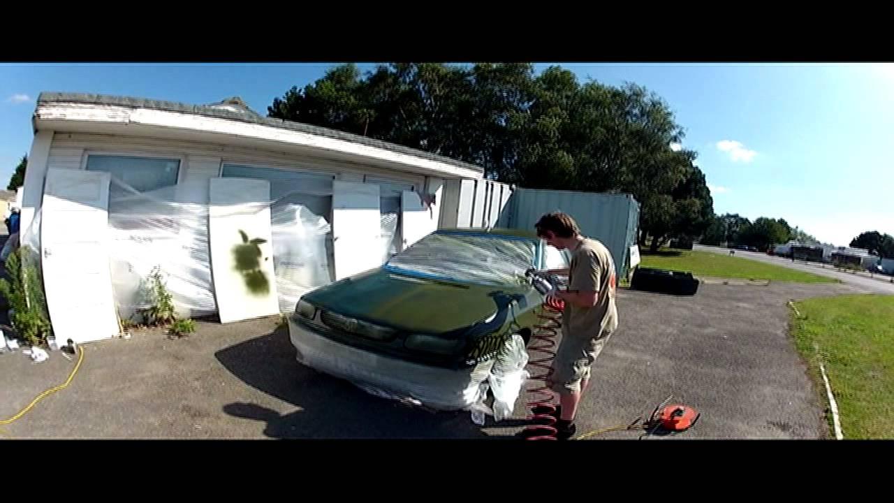 Spraying Military Paint Olive Drab Mk2 Vw Caddy Pickup