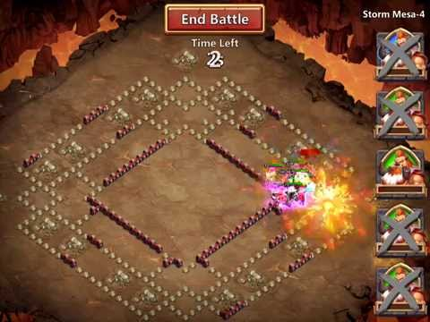 Castle Clash 2-Team Storm Mesa-4 (Duo) Victory (using Scatter)