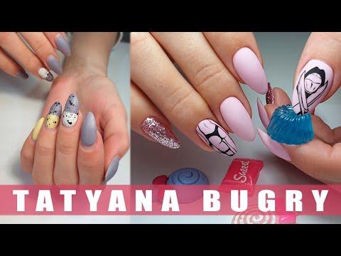 Correcting Nails | Bikini Bottom Design | Glitter Nails | Russian, Efile Manicure