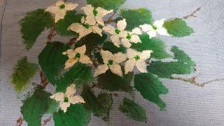 #산딸나무꽃그리기#천아트#쉬운꽃그림