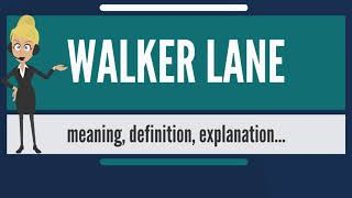 What is WALKER LANE? What does WALKER LANE mean? WALKER LANE meaning, definition & explanation