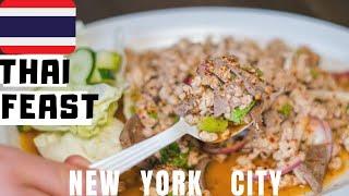 BEST THAI Food in New York City? Eating Thai Food in NYC Thai Town (Part 1)