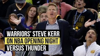 Kerr on handling center rotation and Warriors conditioning