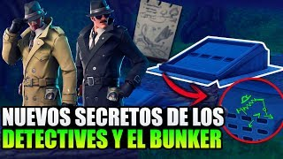 NEW SECRETS OF DETECTIVES AND THE BUNKER ALIENIGENAS? FORTNITE BATTLE ROYALE ? Theories