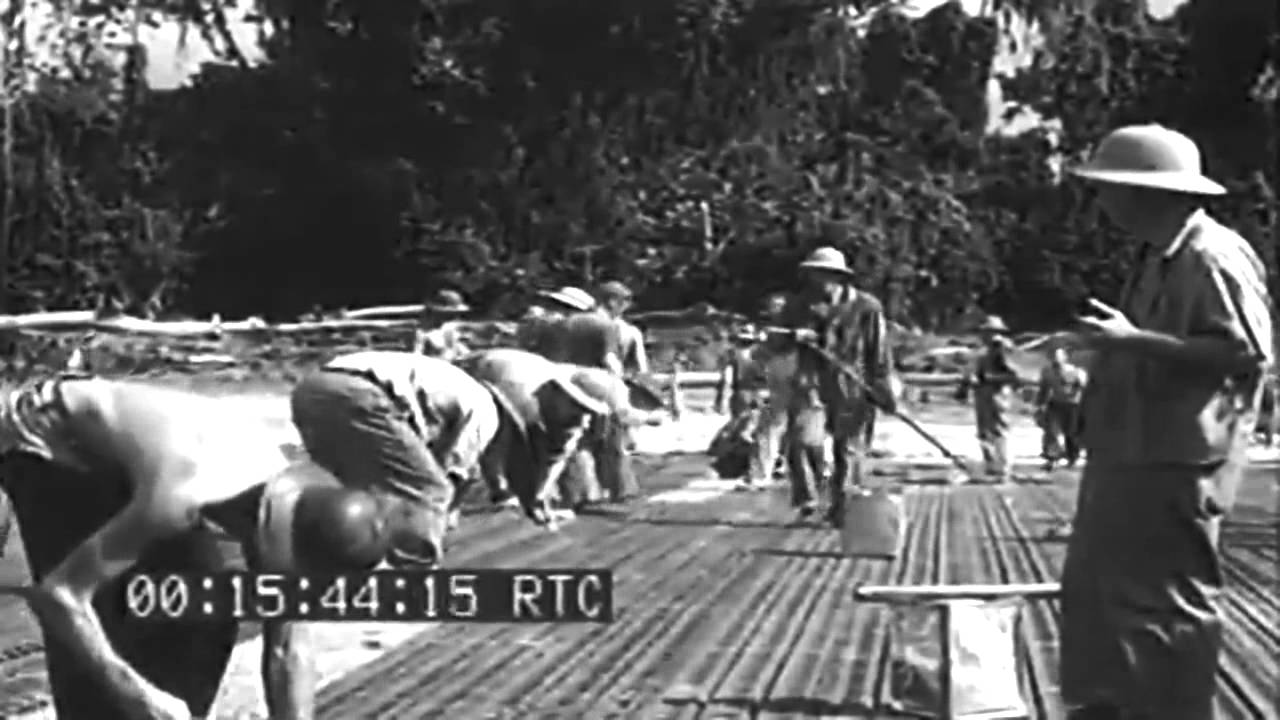 ww2 seabees on bougainville aerial views munda 1943 full youtube