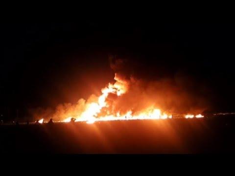 Fuel pipeline blaze in Mexico kills at least 20