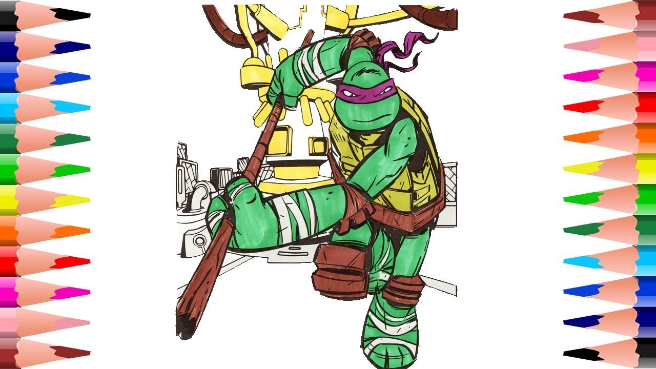 Coloring Donatello Teenage Mutant Ninja Turtles Coloring Pages for ...