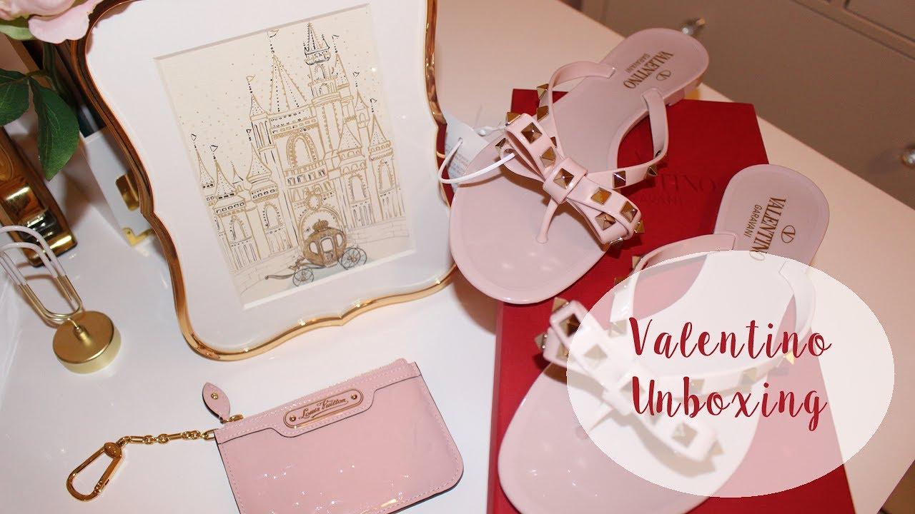 valentino pink flip flops