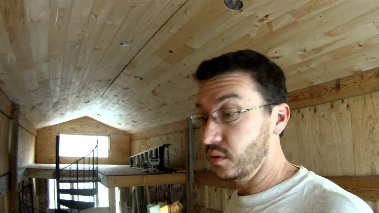 Installing 1x7 Tongue And Groove Pine On The Ceiling
