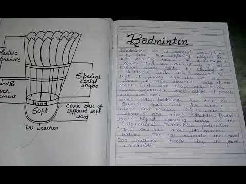 Class 12/Physical education project file(badminton)