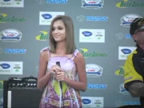 Kelly O'Connell Sings at Johnny O'Connell's 2010 Petit Le Mans Auction