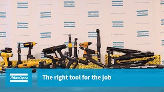 Webinar: The right tool for the job   Atlas Copco USA