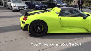 Spotted an Acid Green Porsche 918 Spyder