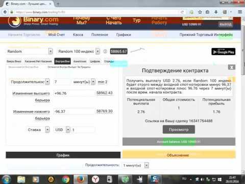 Лучший Брокер БИНАРНЫХ ОПЦИОНОВ Binary.com.Обзор!!!