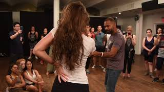 Alex and Mathilde Saturday Demo #1 at 2nd Annual New York Zouk Launch     2018